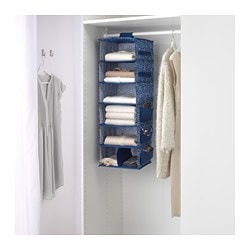 STORSTABBE hanging storage with 7 compartments, blue, white