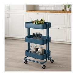 RÅSKOG Utility Cart, Dark Blue