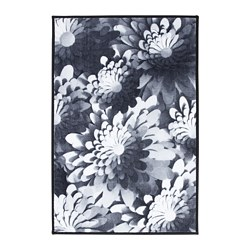VINTER 2018 rug, low pile, black/white