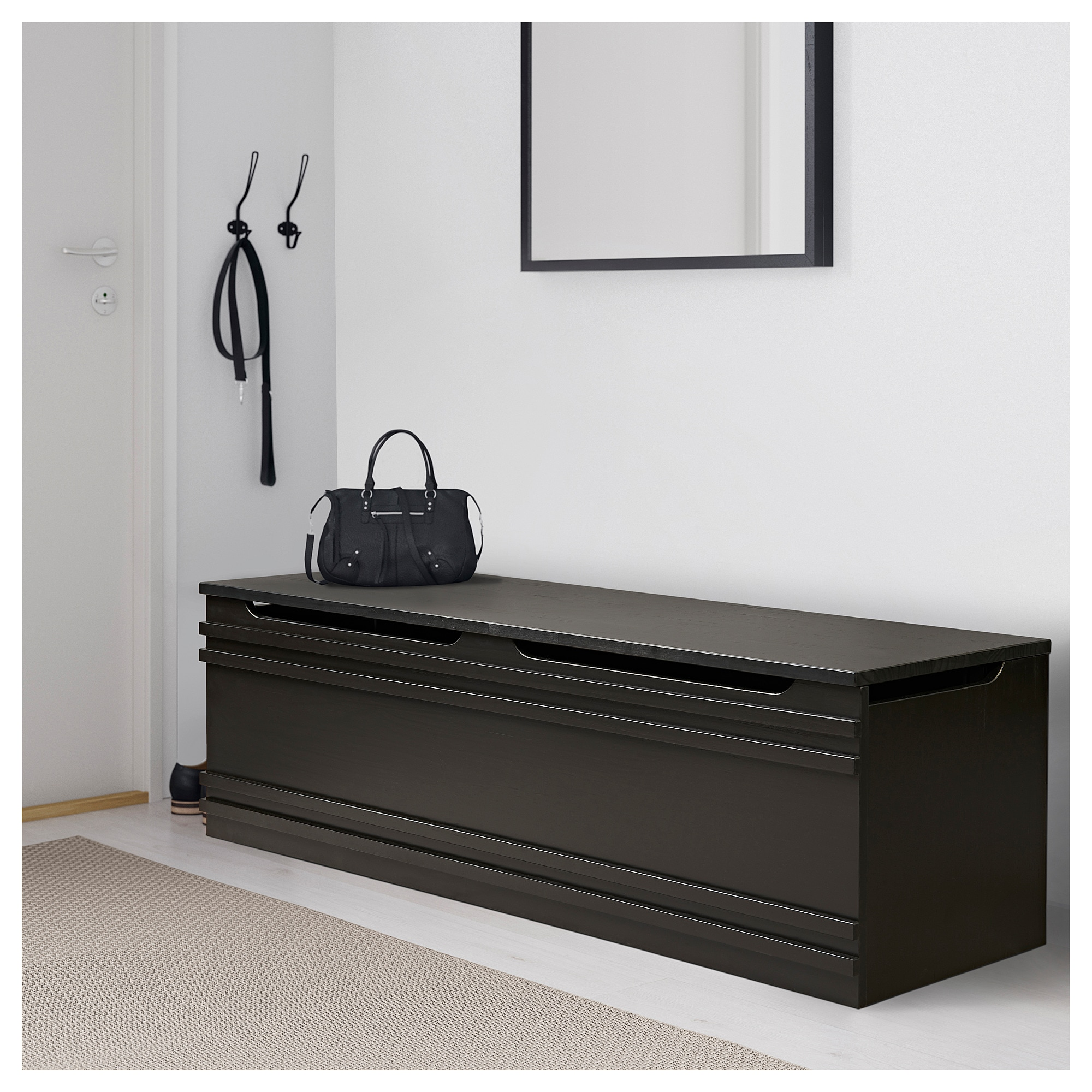 Mathopen Bench Black Brown Ikea