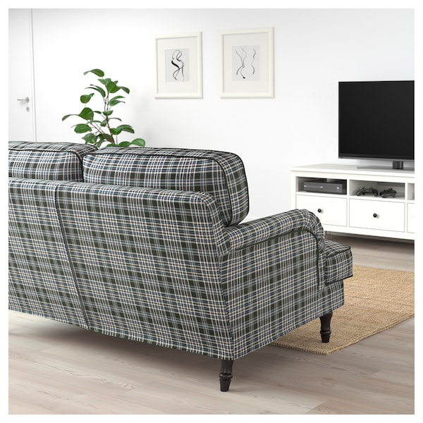 stocksund 2er sofa segersta bunt schwarz holz ikea. Black Bedroom Furniture Sets. Home Design Ideas