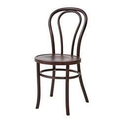 BJURÅN chair, dark brown stained
