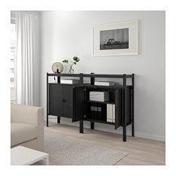 BROR, Shelving unit with cabinets, black