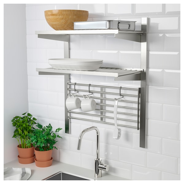 Kungsfors Suspension Rail With Shelf Wll Grid Stainless Steel