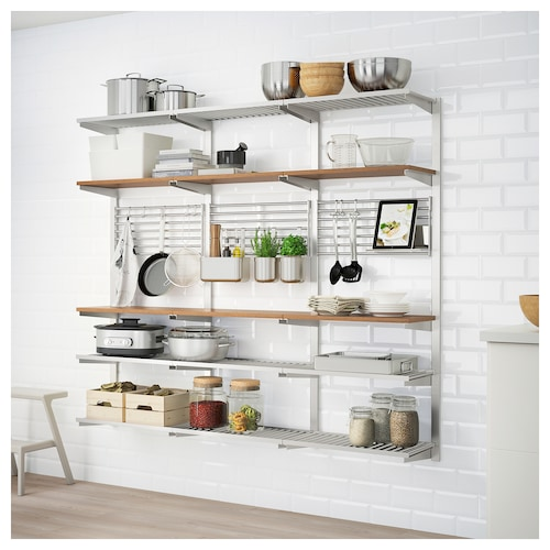 Ikea Kungsfors Suspension Rail With Shelf Wll Grid