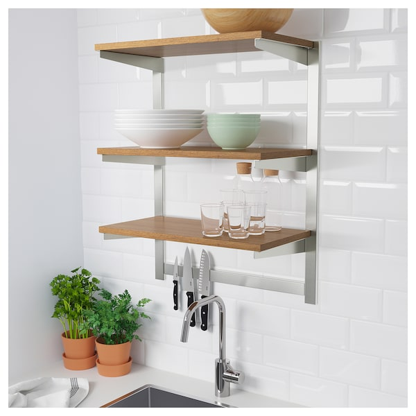 Design Your Own Kitchen Ikea: KUNGSFORS Susp Rail W Shelf/mgnt Knife Rack