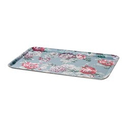 SMAKSINNE tray, multicolour, flower