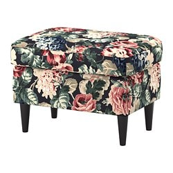 STRANDMON footstool, Lingbo multicolour