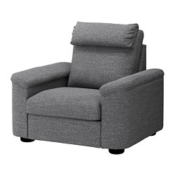 LIDHULT, Armchair, Lejde gray/black