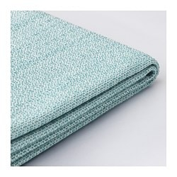 VALLENTUNA, Cover for back cushion, Hillared light blue