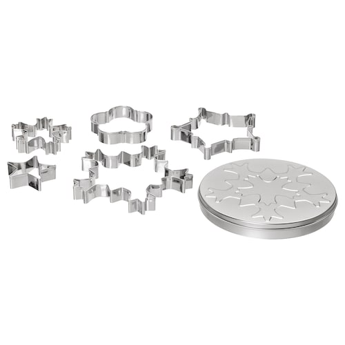 IKEA VINTERFEST 5 cookie cutters with container