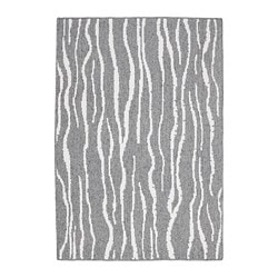 GLUMSÖ rug, flatwoven, light gray