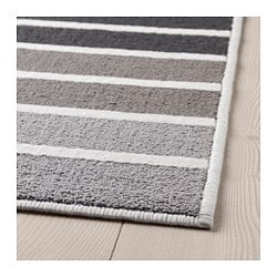 LUMSÅS rug, low pile, grey, multicolour