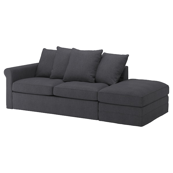 Sleeper Sofa Grönlid With Open End Sporda Dark Gray