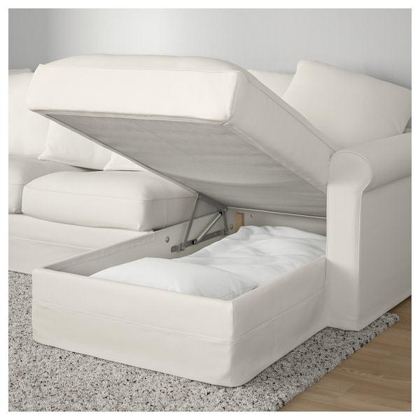Surprising Corner Sofa Bed 5 Seat Gronlid With Chaise Longue Inseros White Evergreenethics Interior Chair Design Evergreenethicsorg