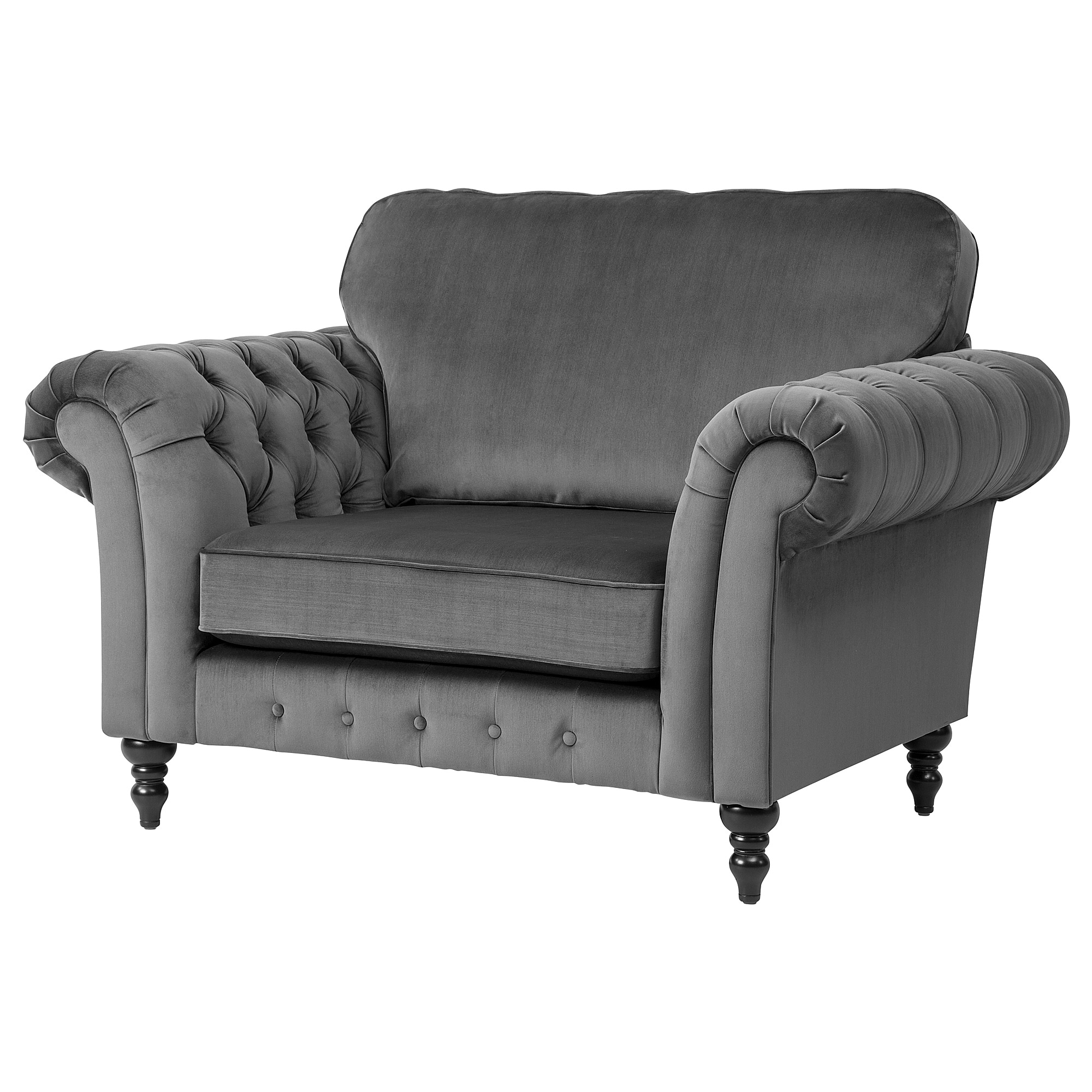 Etonnant Armchair GREVIE Velvet Grey