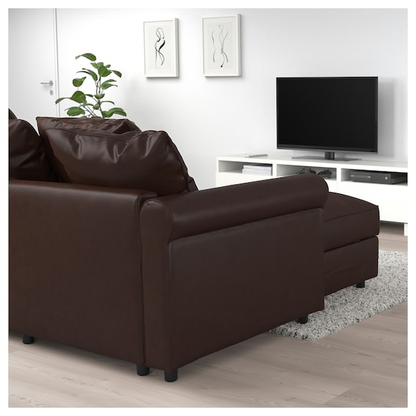 Corner Sofa Bed 5 Seat Gronlid With Chaise Longue Kimstad Dark Brown