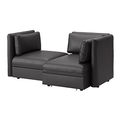 Vallentuna Mod Sofa 2 Seat W Slpr Section And Storage Murum Black