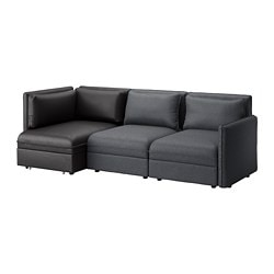 sofa bed with storage. VALLENTUNA 3-seat Modular Sleeper Sofa, And Storage, Hillared/Murum Dark  Gray Sofa Bed With Storage