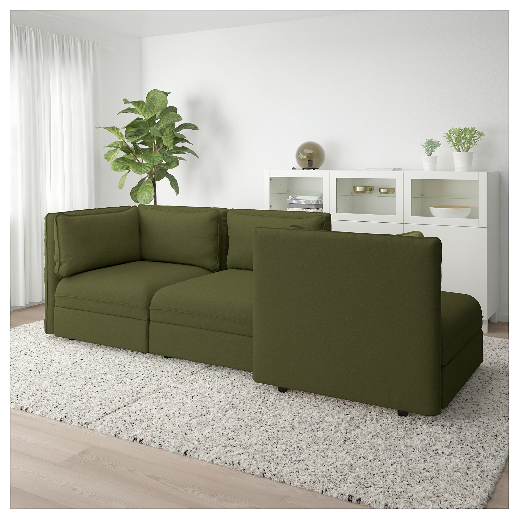Vallentuna 3 Seat Modular Sofa With Open End And Storage Orrsta