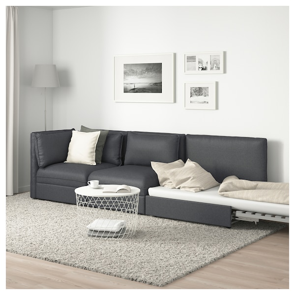Vallentuna 3 Seat Modular Sofa With Sofa Bed With Open End