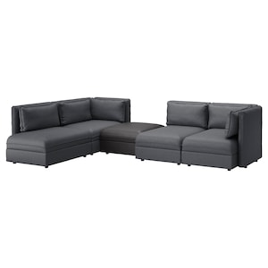 Amazing Vallentuna Modular Corner Sofa 4 Seat With Storage Frankydiablos Diy Chair Ideas Frankydiabloscom