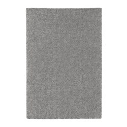 STOENSE rug, low pile, medium gray
