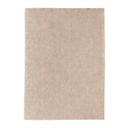 STOENSE rug, low pile, off-white