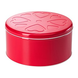 VINTER 2018 tin with lid, red