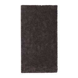 STOENSE rug, low pile, dark grey