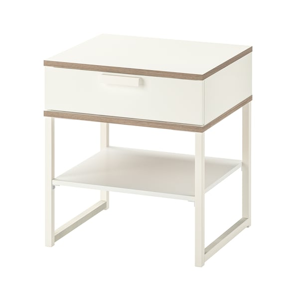 Side Table Van Ikea.Bedside Table Trysil White Light Grey