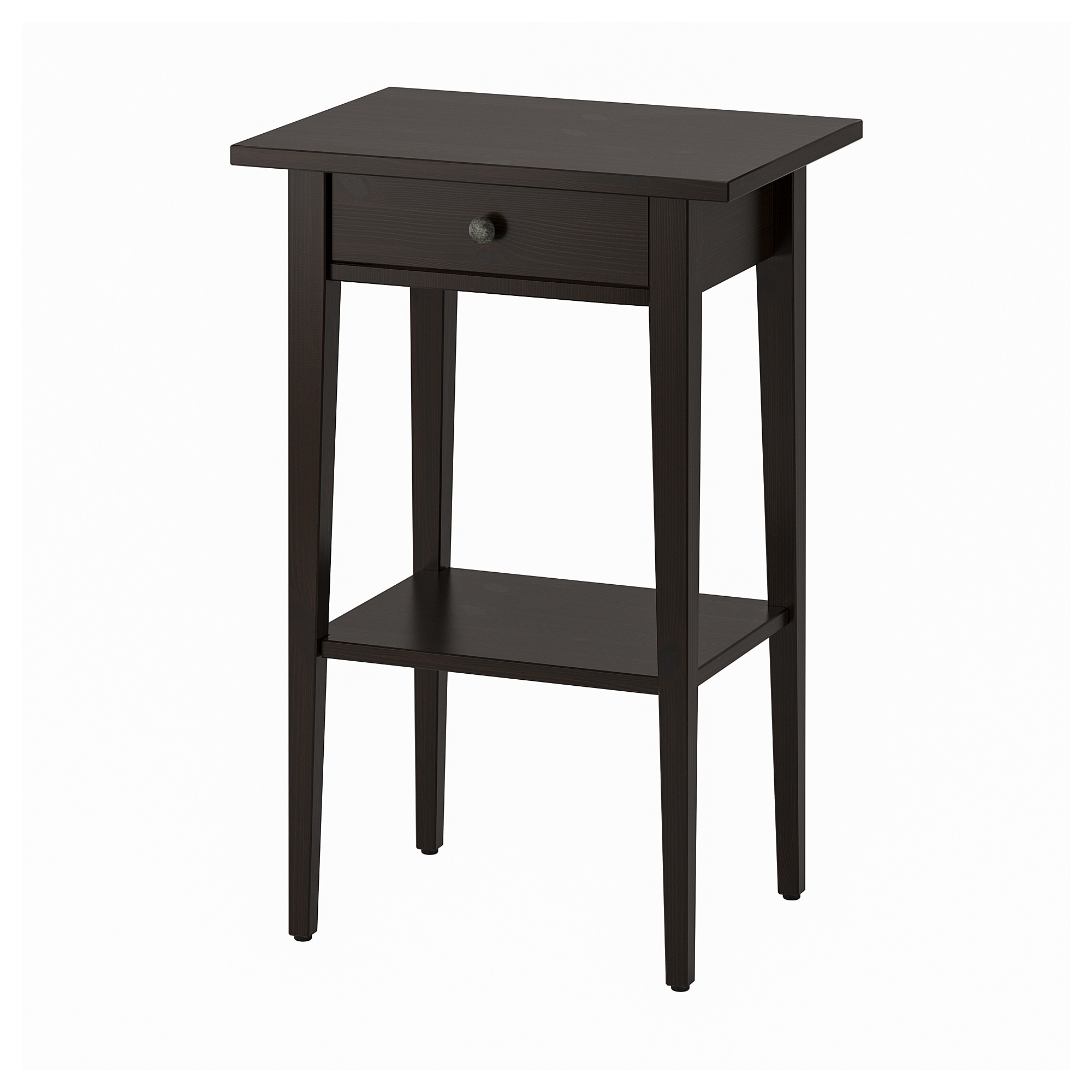 Hemnes Bedside Table Black Brown Ikea