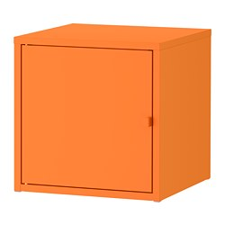 LIXHULT cabinet, metal, orange