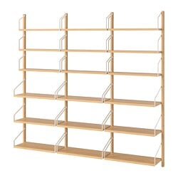 SvalnÄs Wall Mounted Shelf Combination Bamboo