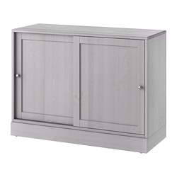 HAVSTA cabinet with plinth, grey