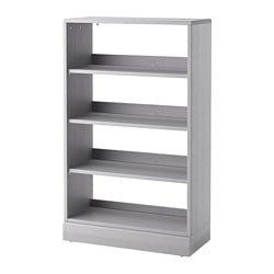 HAVSTA shelving unit with plinth, grey
