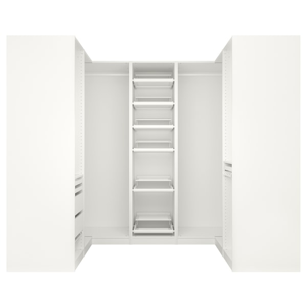 pax armoire d 39 angle blanc ikea. Black Bedroom Furniture Sets. Home Design Ideas