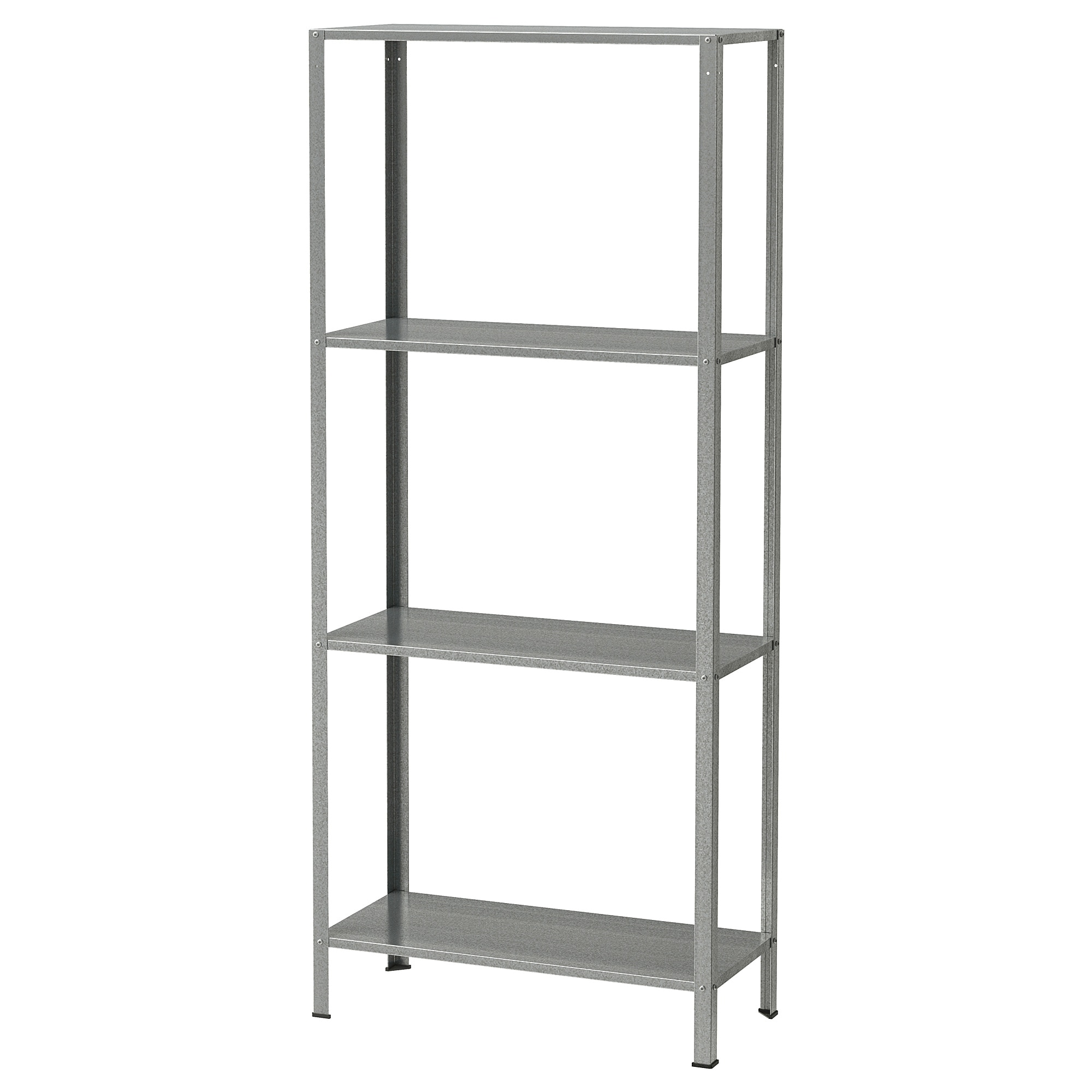Hyllis Shelf Unit Indoor Outdoor Galvanized