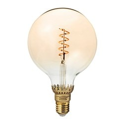 ROLLSBO LED bulb E26 300 lumen, dimmable, globe brown clear glass