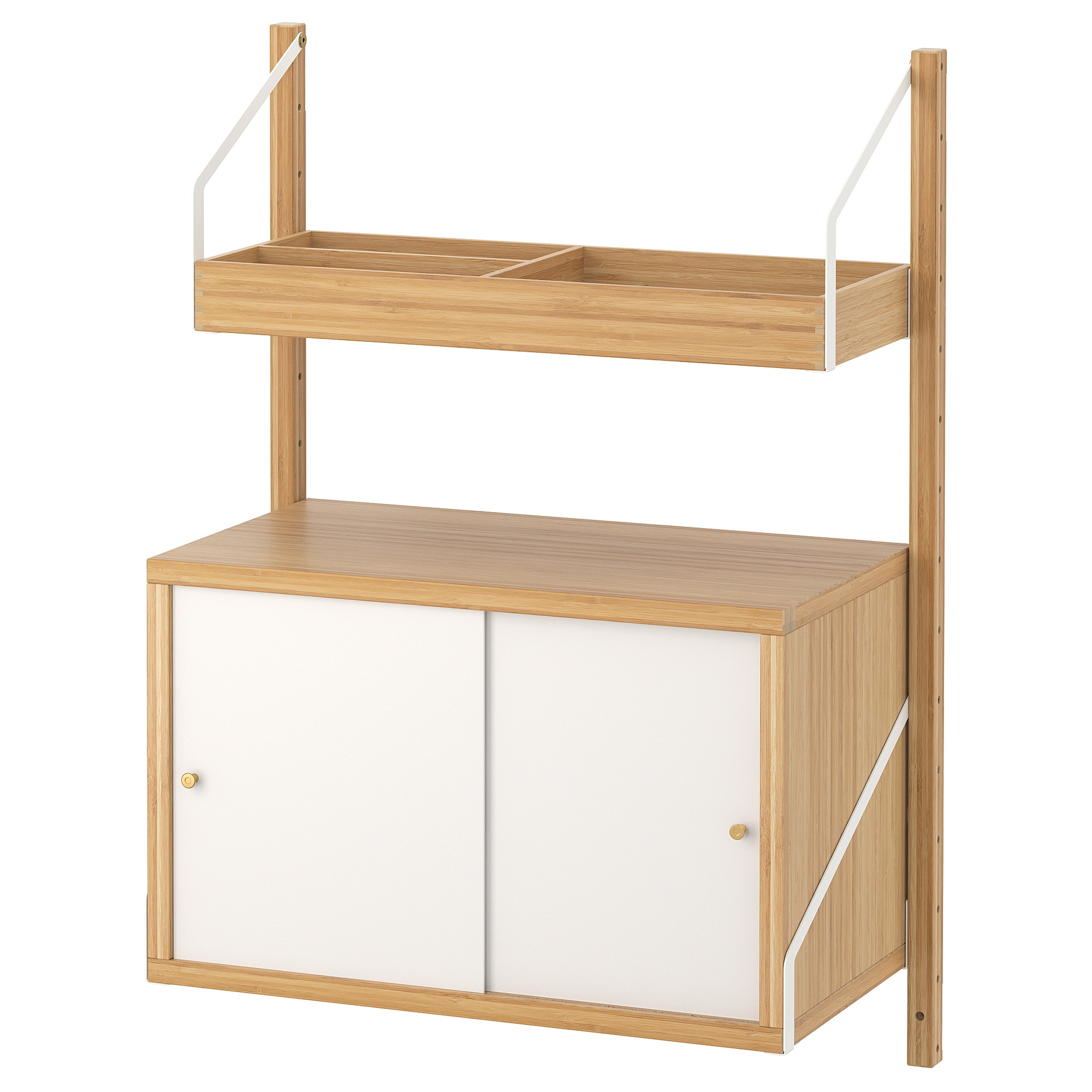 SvalnÄs Wall Mounted Storage Combination Bamboo White