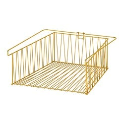 KALLAX wire basket, brass-colour