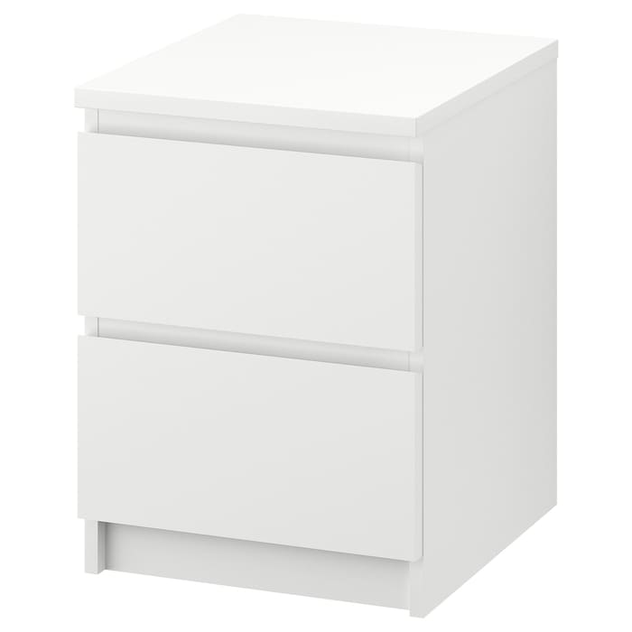Ikea MALM 2-drawer chest, white, 15 3/4x21 5/8