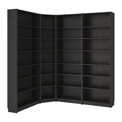billy bookcase black brown - Colored Bookshelves