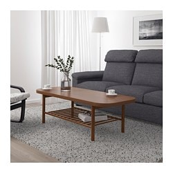 LISTERBY coffee table, brown