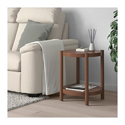 LISTERBY side table, brown