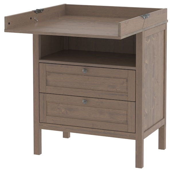 Stupendous Changing Table Chest Of Drawers Sundvik Grey Brown Home Interior And Landscaping Fragforummapetitesourisinfo