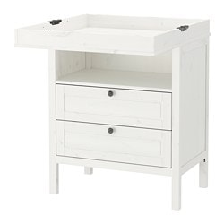 SUNDVIK changing table/chest, white