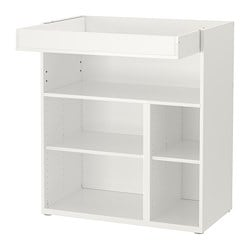 STUVA changing table/desk, white