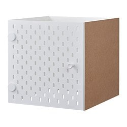 KALLAX insert with pegboard, white