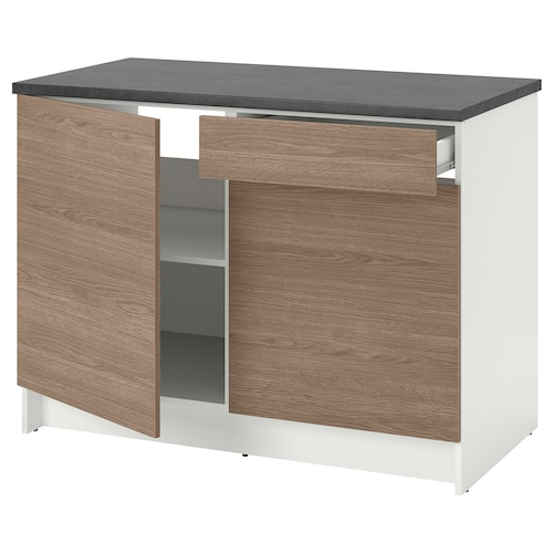 KNOXHULT Base cabinet with doors and drawer - wood effect ...